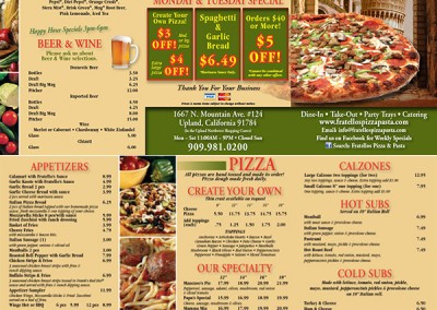 Fratellos Menu