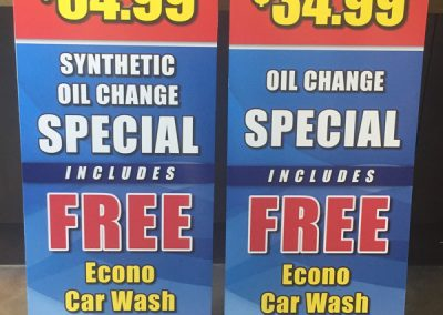 castrol-oil-change-special-sign